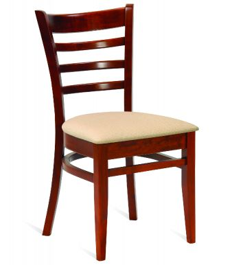 Dallas Veneer Seat Sidechair Shown Upholstered