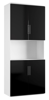 Combinantion Cupboard - Black (FLAT)
