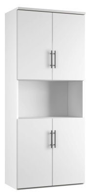 Combinantion Cupboard - White (FLAT)