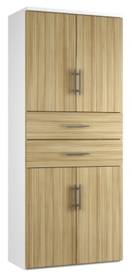 Combinantion Cupboard Variant 2- Light Wood Grain (FLAT)