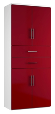 Combinantion Cupboard Variant 2- Red (FLAT)