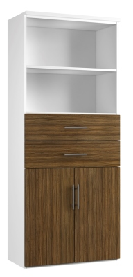 Combinantion Cupboard Variant 3 - Dark Wood Grain (FLAT)