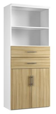 Combinantion Cupboard Variant 3 - Light Wood Grain (FLAT)