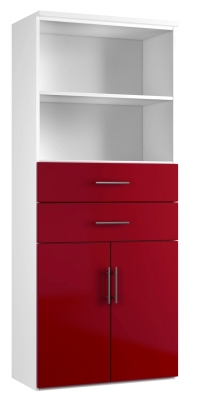 Combinantion Cupboard Variant 3 - Red (FLAT) (1)