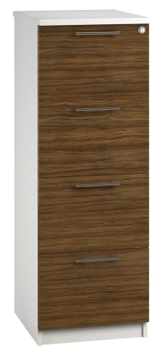 Filing Cabinet 4 Drawer Dark Wood V1 01 (FLAT)