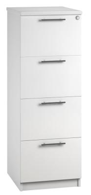 Filing Cabinet 4 Drawer White V1 01 (FLAT)
