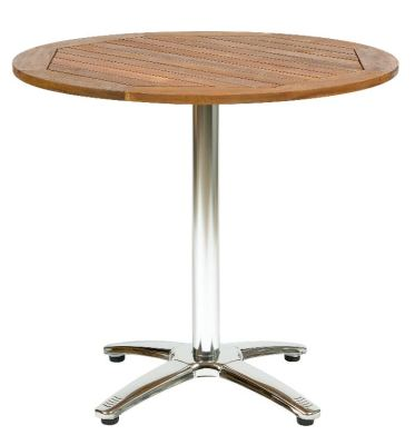 Breeze Table Base With Acacia Wood Table Top
