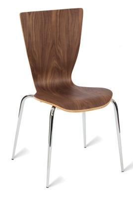 331545 Basel Side Chair Am Walnut