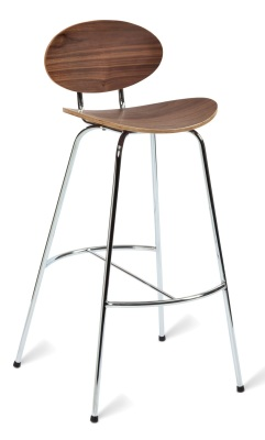 331516-Saxon 760 Bar Stool Am Walnut