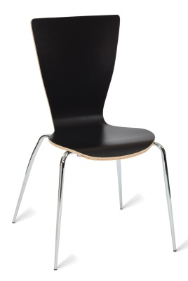 331557 Davos Side Chair Black HPL