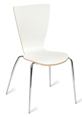 331556 Davos Side Chair White HPL