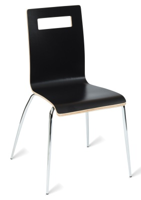 331567 Nyon Side Chair Black HPL