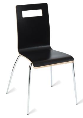 331567 Nyon Side Chair Black HPL