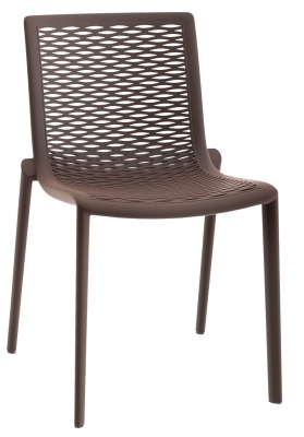 333163 Katie Side Chair - Chocolate
