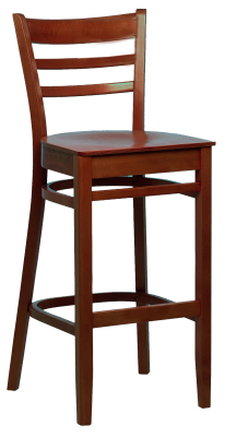 Dallas Veneer Seat Highstool Walnut