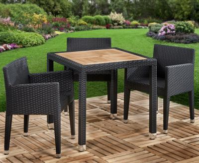 Geneva Teak Sq Box Weave Chairs-a