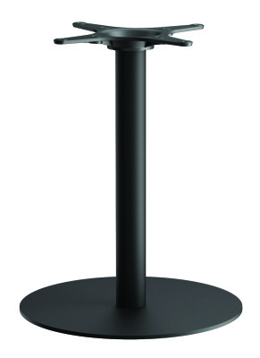 Zeta B2 Round Shown With Black Round Dining Height Column
