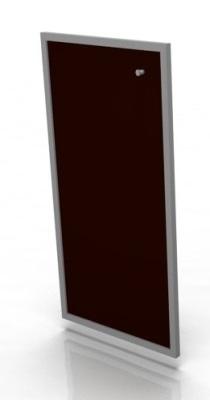 Single Medium Moka Glass Door
