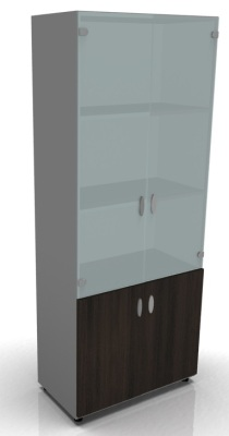 Tall Cupboard W Glass Door D Oak
