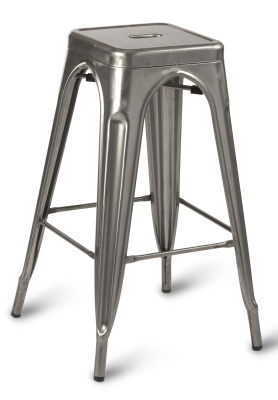 Paris High Stool Gun Metal Clear Coating-compressor