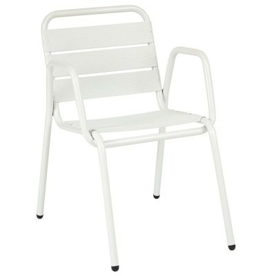 Decker-white-arm-chair-compressor