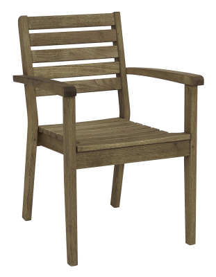 Quad Stacking Arm Chair Darkened