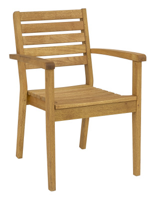 Quad Stacking Arm Chair, Oiled Finish