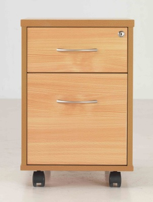 Beech Two Drawer Mobile Drawers