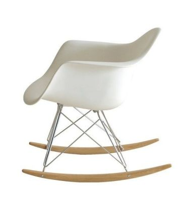 Contemporary White Rocking Chair