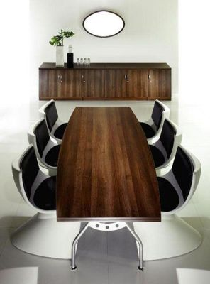 Wenge Boat Shaped Boardroom Table