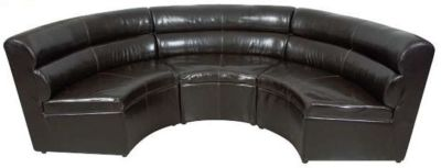 Semi Circular Leather Sofa