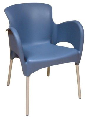 Blue Outdoor Thermoplastic Chair