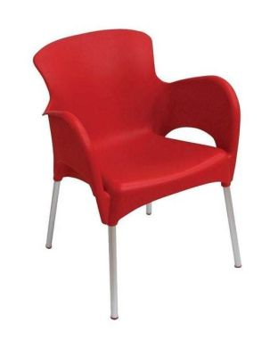 Red Outdoor Thermoplastic Chair