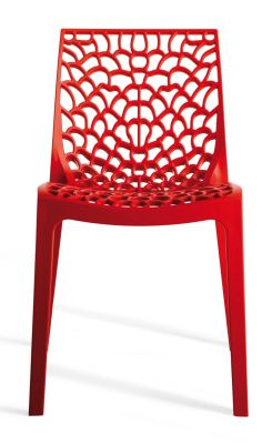 Red Designer Poly Chair