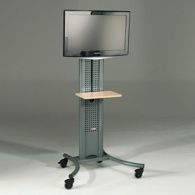 Mobile Grey TV Stand