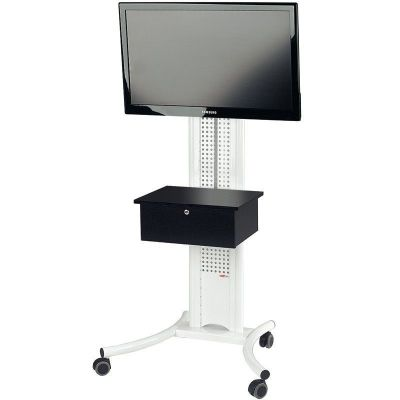 Secure White TV Stand