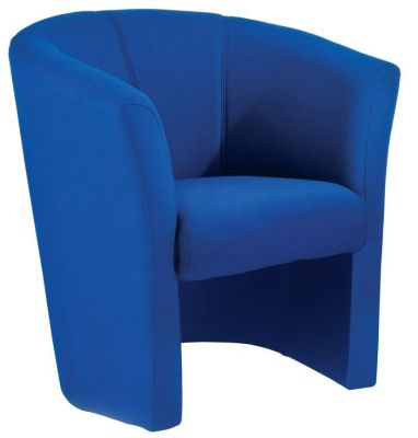 Blue Fabric Tub Chair