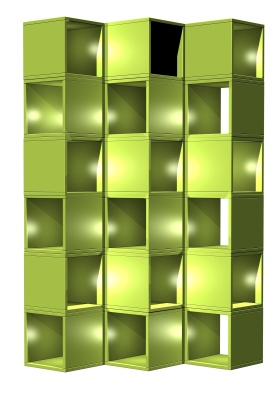 Green Designer Shelving