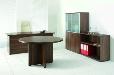 Complete Regency Office Furniture Range In Dark Walnut
