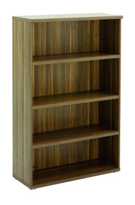 Regency Bookcase With 3 Shelves In A Dark Walnut Finish