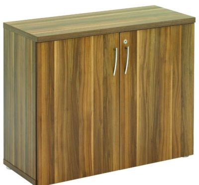 Regency Next Day Office Storage Cupboard In A Dark Walnut Finish