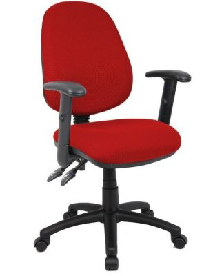 Cheap Red Office Operator Chair With Fixed Arms