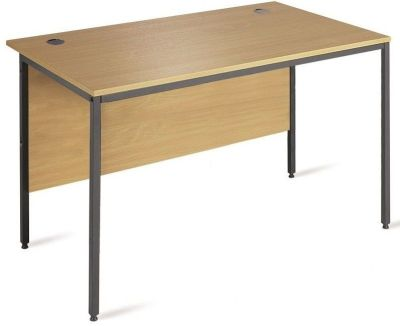 Next Day Maddellex H Frame Office Desk In A Beech Mae Finish