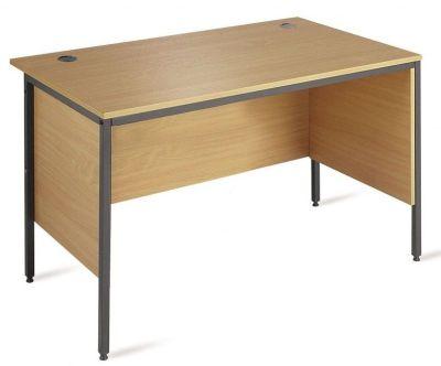 Meddellex H Frame Office Desk With Side Panels In A Oak Mae Finish