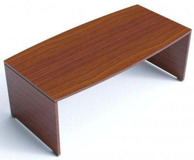 Caba Bow Fornted Executive Desk In A Striking Walnut Finish