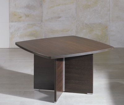 Caba Meeting Room Table With Curved Edges In A High Quality Wenge Finish