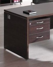 Caba Suspended Fixed Drawer Pedestal In A Wenge Finish