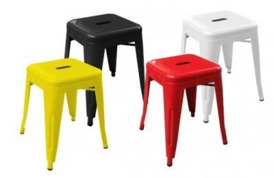 Xavier V2 Low Stools In Red Yellow Black White