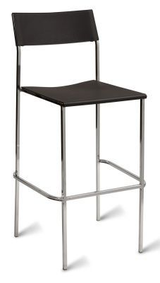 Taco Poly Chrome High Stools Black