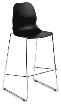 Mackie High Chair In Black With Skid Frame